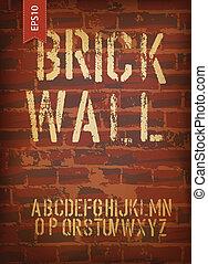 Brick wall design template. Vector, EPS10