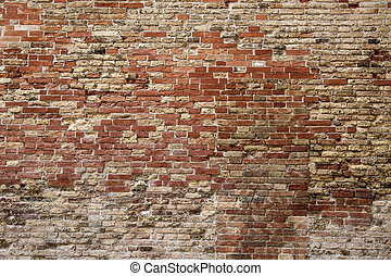 Brick wall - Old red brick wall texture background