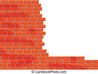 Brick Wall  - Vector Illustration Of Brick Wall