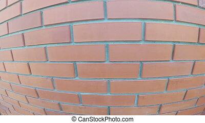 Brick wall. Fence close up