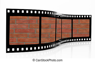 Brick wall Film Strip