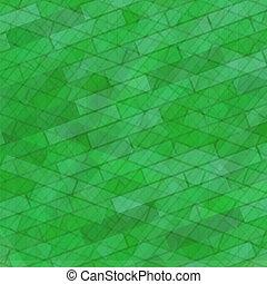 Brick Wall Green Stone Background.