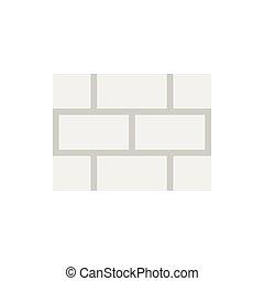 Brick wall icon, flat style