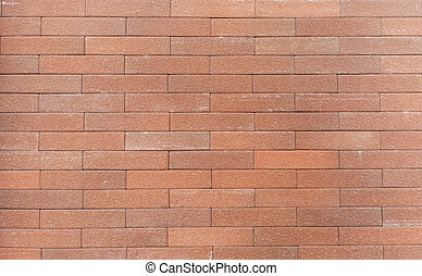 Brick wall in orange brown tone