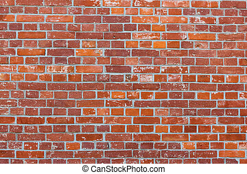 Brick wall in red color