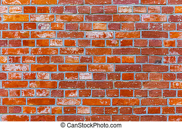 Brick wall in red