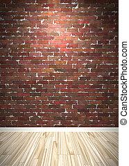 Brick Wall Interior Space