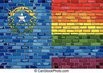 Brick Wall Nevada and Gay flags
