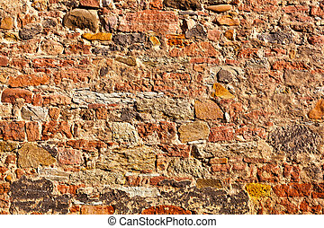 brick wall of an old house