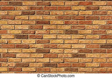 Brick wall - Olde Red Brick Wall Background