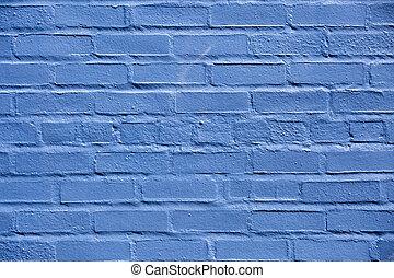 Brick wall painted blue in Warrenton Virginia