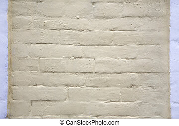 Brick wall painted whitewash