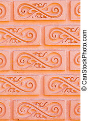 brick wall pattern detail