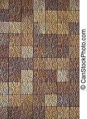 Brick wall pattern.