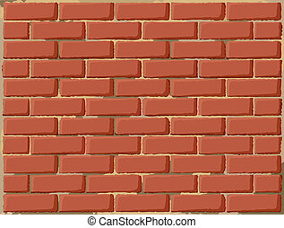 Brick wall pattern with rough brown stones