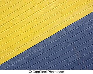 brick wall - colored brick wall