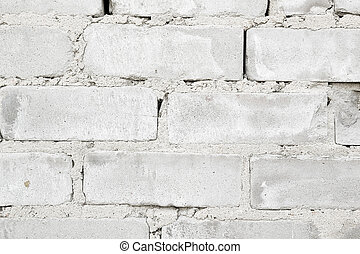 rough rough wall of gray brick with cement