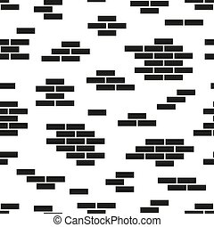 Brick wall seamless geometric pattern. Simple endless creative background. Black and white design