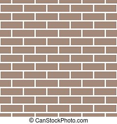 Brick wall seamless pattern. Simple endless background. Brown geometric repeatable design