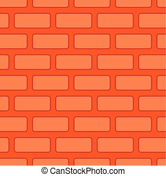 Brick wall seamless texture. Red Bricks Background