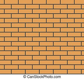 Brick wall seamless texture vector