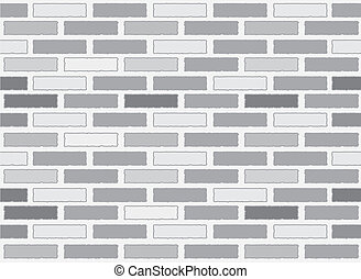 Brick wall seamless Vector illustration background.