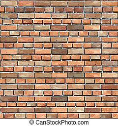 Brick wall seamless. Vector illustration. Texture pattern...