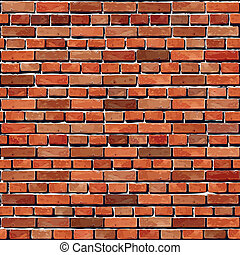 Brick wall seamless. Vector illustration. Texture pattern for continuous replicate.