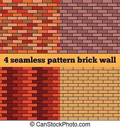 Brick wall set of seamless textures