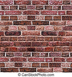 brick wall square red