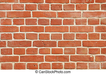 Brick wall - Red brick wall of old building.