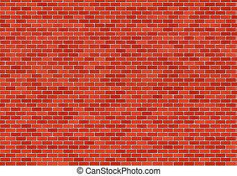 Brick Wall - Texture of the red brick wall