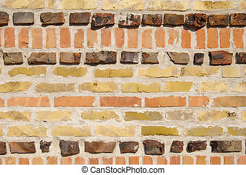 Brick wall texture - wall texture made of different bricks