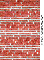 Brick wall texture - A background texture of a fine red...