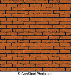 brick wall  - Seamless background of red brick wall texture