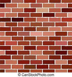 brick wall Vector illustration background - texture pattern...