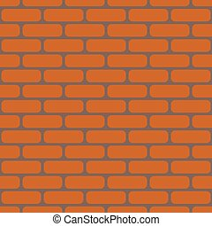 Brick wall vector realistic background - seamless tile texture. Geometric endless design