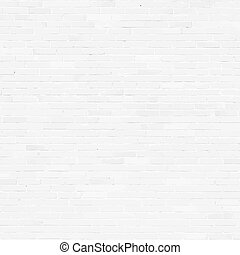 Brick wall, white relief texture with shadow, vector...