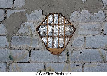 Brick wall, window