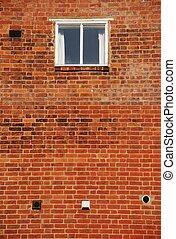 Brick wall window