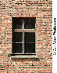 brick wall with a window