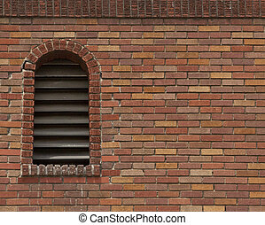 brick wall with acrhed vent