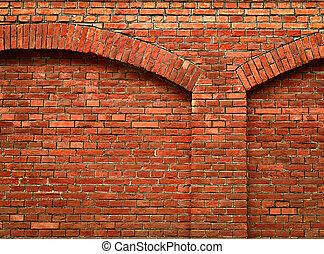 brick wall with arch