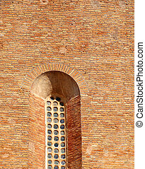 Brick wall with hopper light