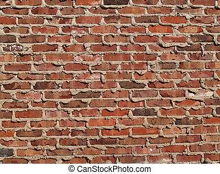 Brick Wall With Mortar Oozing
