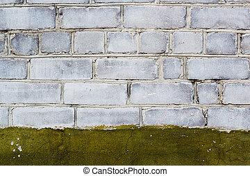 brick wall with paint