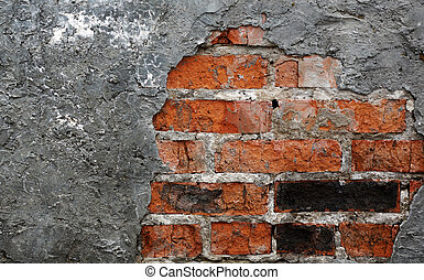 brick wall with plaster
