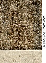 Brick Wall with Sidewalk