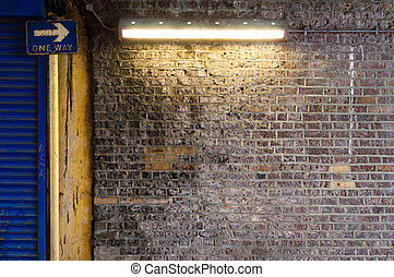 Brick Wall with Strip Light (1)