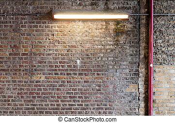 Brick Wall with Strip Light (2)